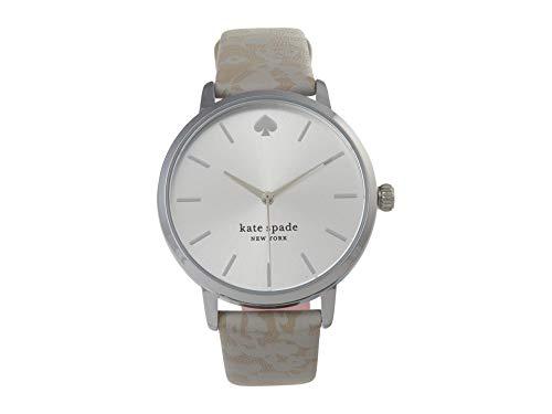 kate spade new york Women's Metro Quartz Watch with Leather Strap, Gray, 16 (Model: KSW1669)