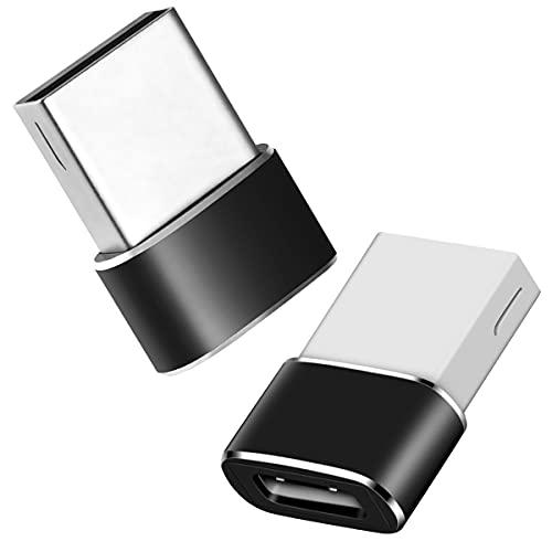 USB A auf USB C Buchse Adapter (2 Pack), Typ C-Buchse zu USB-Stecker Adapter Konverter Kompatibel mit Pad Pro 2020/Pad Air 4, Phone 11/12 Pro, Galaxy S20/S20+, Laptops, Powerbanks, Ladegeräten