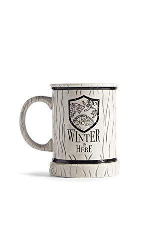 Game Of Thrones Keramiktasse Weiß Khaleesi, Grau Ale Becher Primark - Grey-Winter Is Here