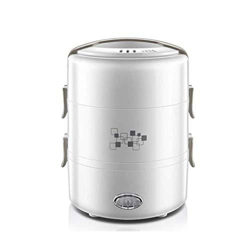 BANNAB Mini Rice Box Reiskocher Travel Kleiner Reiskocher Kochtopf Home Office Abnehmbare Antihaft-Pfanne (weiß)