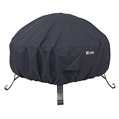 Water-Resistant 30 Inch Round Fire Pit Cover (New Version)