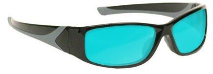 Alexandrite Laser Glasses Diode High Light Transmission Laser Safety - Model 808 Black
