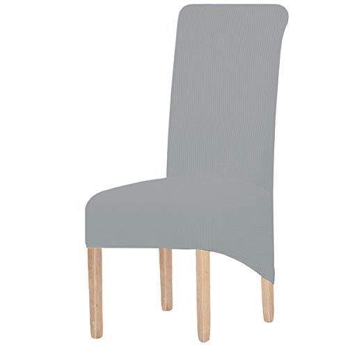 KELUINA 4er Set Stretch Esszimmer Stuhlhussen XL, Abnehmbare Waschbar Stuhlbezug Stuhl Schutzhülle für Wohnkultur Party Hotel Hochzeitszeremonie,für große Esszimmerstühle