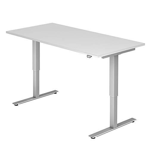 A-Series Elektrisch höhenverstellbarer Schreibtisch AS1258 mit Memoryschalter, Tischplatte 160x80cm (Weiss)