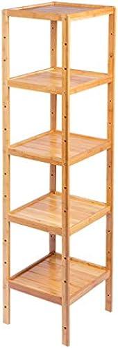 Bücherregal Ablagefach, Blaumenst er Dekor Display Rack, Bambusrahmen h nverstellbar, für Schlafzimmer Badezimmer Wohnzimmer Küche