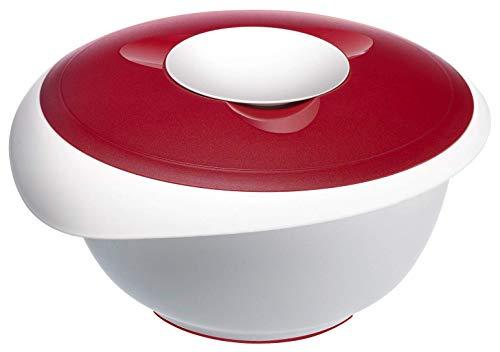 Westmark 3155 - Ciotola con Coperchio per Impasto, 3,5 Litri, Colore: Rosso/Bianco