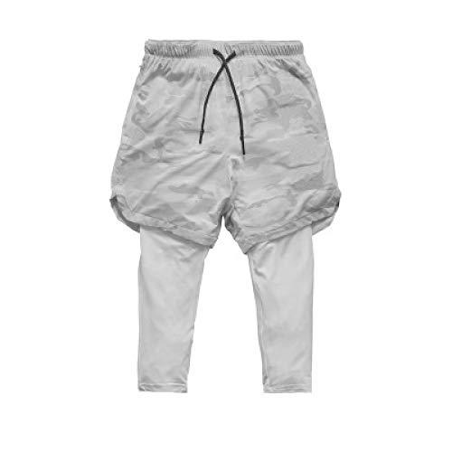 Katenyl Pantalones Cortos para Hombre Pantalones de chándal con Costura Cintura elástica Secado rápido Entrenamiento cómodo Correr Pantalones Cortos Casuales elásticos XXL