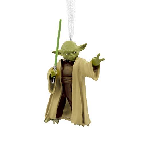 Hallmark Christmas Ornament, Star Wars Yoda With Lightsaber