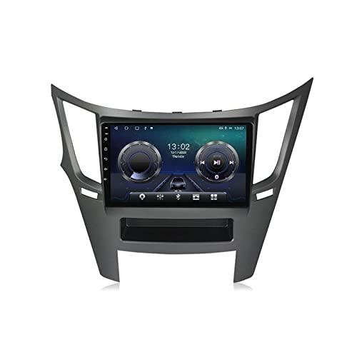 Android Radio De Coche Bluetooth para Subaru Legacy Outback 2009-2014 con Cámara De Visión Trasera Autoradio Apoyo Llamadas Manos Libres/FM Radio/1080P Video/WiFi/Carplay/Dab+,4+32g