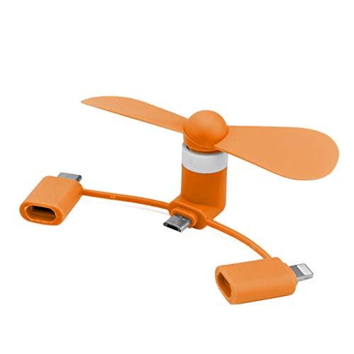 GUMEI 3-en-1 Mini Ventilador para teléfono móvil Ventilador portátil para teléfono móvil Ventilador USB Creativo silencioso