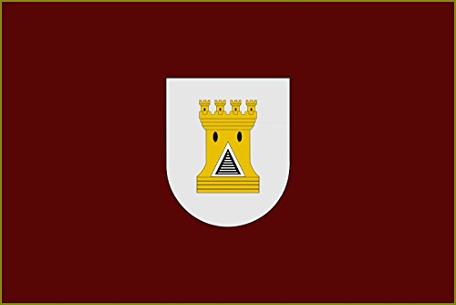 magFlags Bandera Large con Escudo de Carcastillo | Bandera Paisaje | 1.35m² | 90x150cm