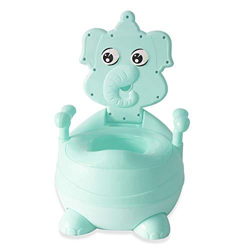 Bimbi Vasino Bimbo Vasetto WC Modello Animale Toilette di Viaggio Portatile Design Divertente per Bambini Schienale Ergonomico Alto Confortevole e Robusto,Blue