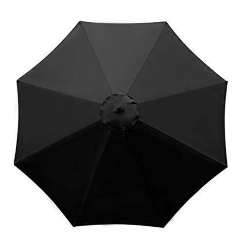 Toldo de repuesto para sombrilla de 3 m, grande, 8 costillas, para exteriores, para el mercado, para patio, jardín, playa, piscina, cubierta (solamente)