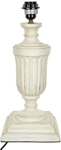 Better & Best 2811102 – lampe de table en bois en forme de coupe avec Gallones avec Base carrée, blanc