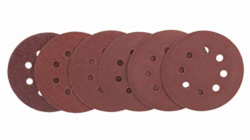Schleifscheiben 125 Klett | Schleifgitter Korn 40/60/80/120/180/240 jeweils 10 Stück | Deckenschleifer, Trockenbauschleifer & Tellerschleifer
