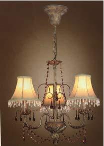 LAMPARA 3L.DIAM 54 C/PANTALLA.C/AMBAR.PATINE