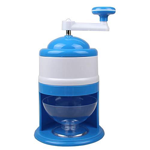 NiceButy Home Mini Ice Crusher Handbuch rasierte EIS-Maschine Aufsatz- Smoothie-Hersteller Multi-Funktions-EIS-Rasierapparat-Maschine im Sommer 1pc Blau