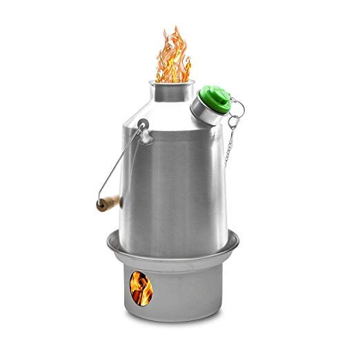 Kelly Kettle' Scout '800 Super Schnell Zelten Wasserkocher + Grün Pfeife Furunkel Wasser in 3 Mins Benutzen Stecken & Pinie Kegel, Usw. (Alle Geschweißt Konstruktion) Keine Batterien, No Gas. Kosten