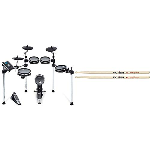 Alesis Drums Command Mesh Kit - Eight Piece Mesh Electric Drum Set with...
