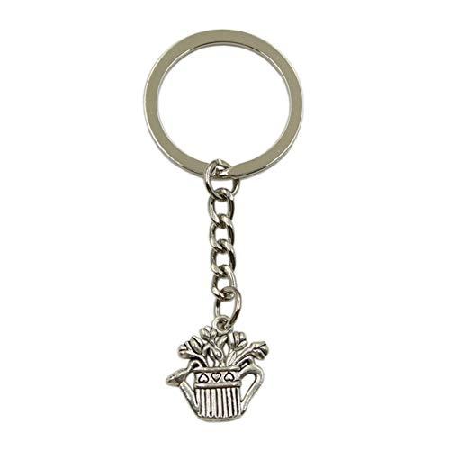 N/ A SGDONG sleutelhanger voor heren van metaal sleutelhanger sieraad hanger waterkoker bloempot kleur zilver