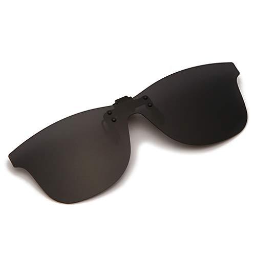 Long Keeper Clip On Occhiali da Sole Lenti Polarizzate da Uomo Donna (Grigio)