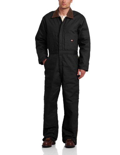 Dickies Men s Insulated Duck Coverall, Black, Large Regular