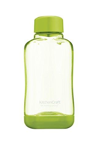 Kitchen Craft KitchenCraft Healthy Eating BPA-Free Stackable Plastic Water Bottle, 500 ml (17 FL oz), Blu