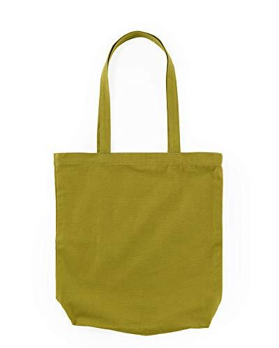 BAGGU Merch Tote, Simple and Easy Canvas Tote Bag, Caper