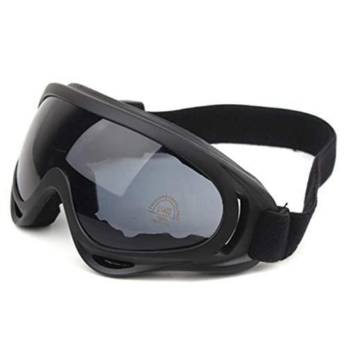 fengzong Outdoor-Brille Motorradfahren Sportbrille Sandfester Lüfter Taktische Ausrüstung Skibrille Outdoor-Aktivitäten (schwarz grau)