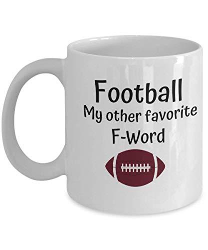N\A Fútbol Mi Otra Palabra F Favorita - Regalo Divertido y novedoso - Regalo para fanáticos del fútbol - Regalo para compañeros de Trabajo - Taza de café de cerámica Blanca