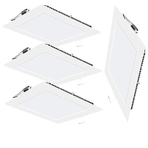 Preisvergleich Produktbild 4 Pack LED Einbauleuchte Panel Licht 3W Quadratisch LED Deckenleuchte Panel Mit Antrieb, 4000K Neutrales Licht Ultra Slim LED Panel Licht für Flur Wohnzimmer Schlafzimmer [Energieklasse A+]