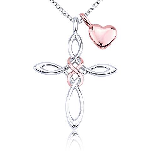 Infinity Love Celtic Knot Cross Necklace for Women Girls Prayer gift Adult ceremony Gitf