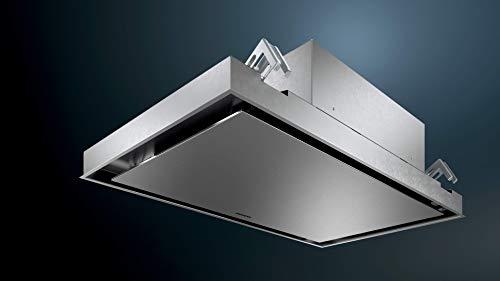 Siemens Ventilador de techo LR96CAQ50 iQ500, ancho 90 cm, compatible con WiFi con Home Connect, sistema cookcontrol, aspiración de bordes, acero inoxidable