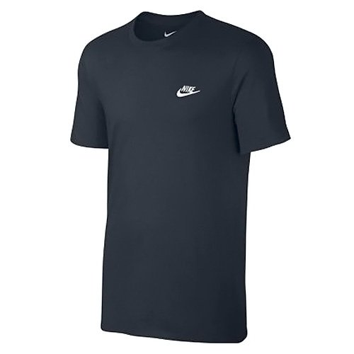 Nike M Nsw Tee Club Embrd Ftra, Camiseta de Manga Corta para Hombre, Azul (Dark Obsidian / White), M