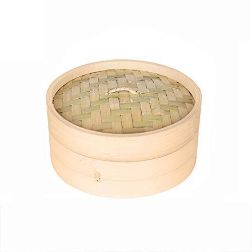 perfecti Vaporera De Bambú para Arroz Recipiente De Bambú para Cocina Al Vapor, Dim Sum, Verduras, Pescado Y Carne Oriental con Pisos