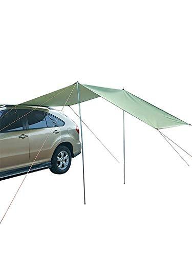 Toldo Carpa Impermeable Sombra Toldo Ultraligero Toldo Sombrilla Tienda De Campaña Al Aire Libre para Automóviles SUV Mpv Camiones Hatchbacks 300X150Cm
