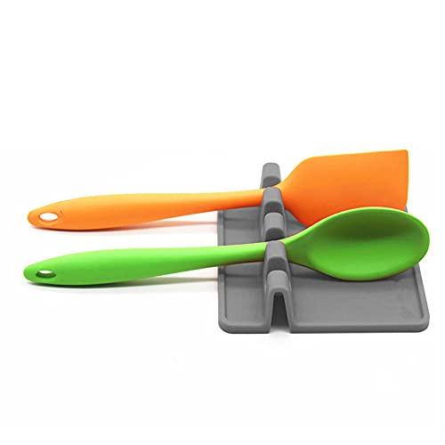 1ud | Reposa cucharas | Descansa utensilios | Soporte para espátula | Gris