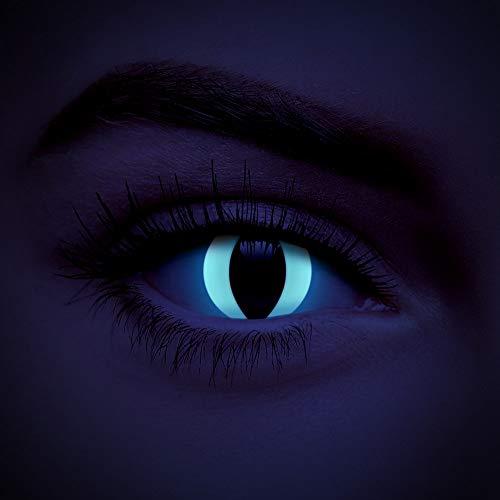 chromaview Katzen UV i-Glow Farbige Kontaktlinsen Ohne Stärke Weiß (Tageslinsen)
