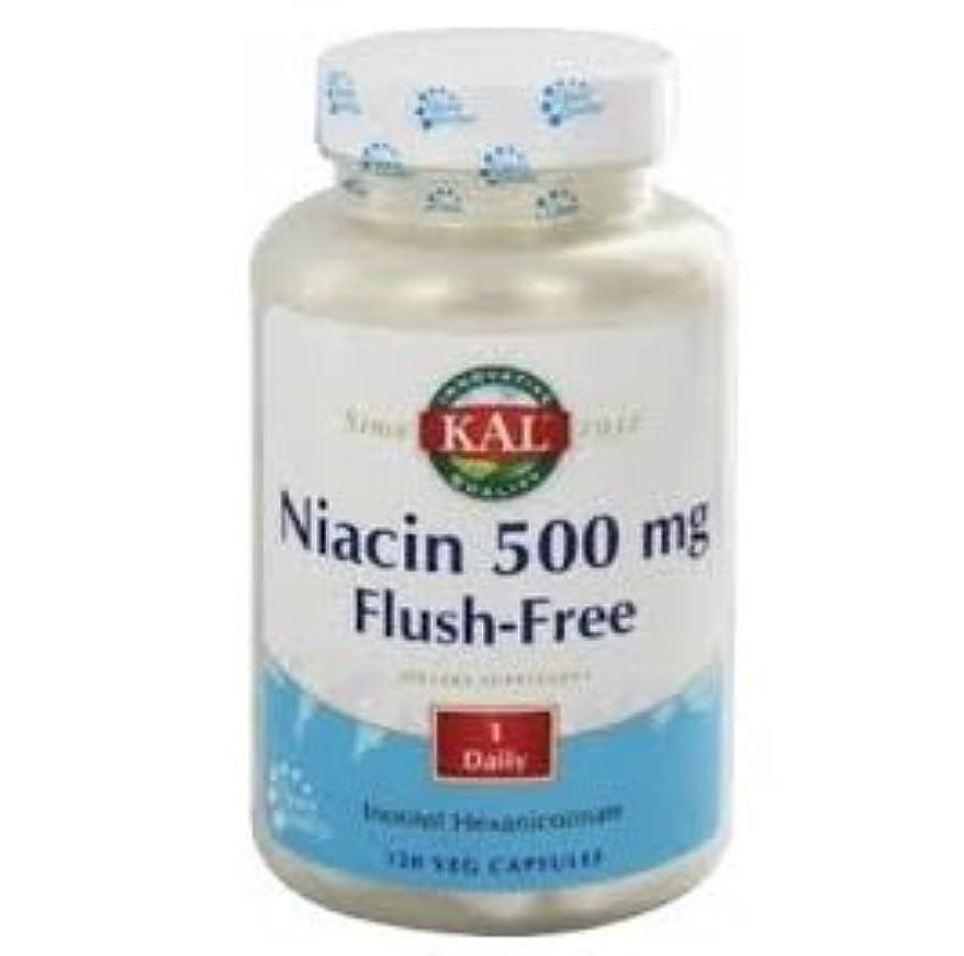 熱望する香り花瓶【海外直送品】 KAL Niacin 500 mg Flush-Free - 120カプセル ナイアシン(フラッシュフリー)