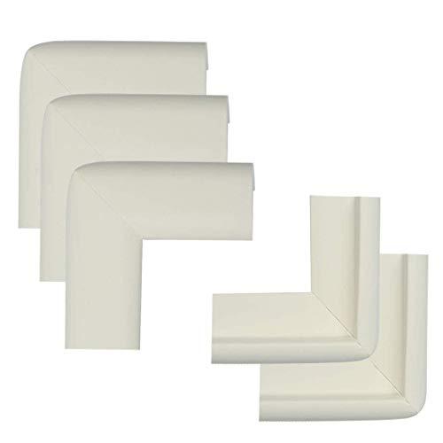 YeVhear - Lote de 5 unidades de espuma para muebles, mesa de oficina, borde de cobertura, almohadillas protectoras de esquinas, cojines parachoques, guardabarros, 50 x 22 x 20 x 6 mm, color blanco