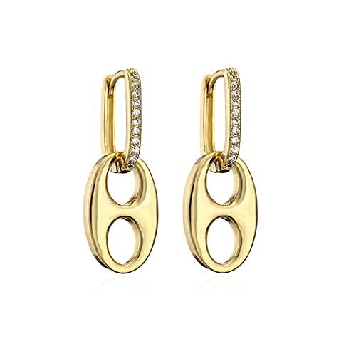 2021 New Fashion Women Pendientes de boda Diseño único Oro/Plata Color Nariz Dedge Pendientes para mujeres niña por YESYI SHMGO