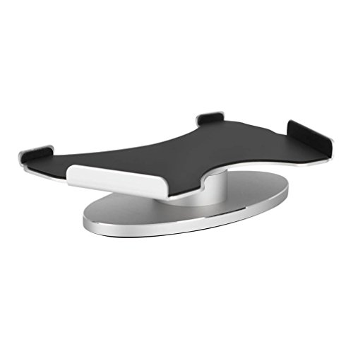 VBESTLIFE Support d'Enceinte en Aluminium pour la Base en Métal Support Rotative 360 de Haut-parleur d'Exposition d'Echo(Argent)
