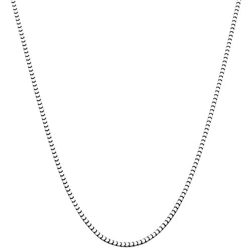 Miabella 925 Sterling Silver Italian 1.6mm 2.2mm Square Venetian Mirror Box Link Chain Necklace for Men Women, 16, 18, 20, 22, 24, 26, 30 Inch Made in Italy (1.6mm, 18 Inches)