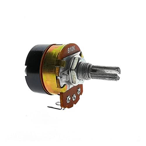 Janedream Owner Potenciómetro 3 piezas Hot New WH138 20 mm agujero redondo 5K 10K 20K 50K 100K 250K 500K K con potenciómetro de interruptor (resistencia: 20K Ohm) (tamaño: 500K Ohm)