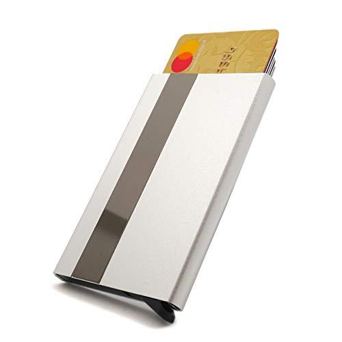 Effilife Tarjetero-s Hombre para 6 Tarjetas de Credito, Anti-RFID Cascading Card Holder Wallet, Cartera/Billetera, L'essentiel, Plata.
