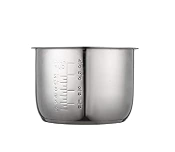 GJS Gourmet Stainless Steel Inner Pot Compatible with 6 Quart Power Cooker XL PPC770 PPC770-1 PPC771 PRO WAL1 WAL2 PCTR-16 and YBD60-100  This pot is not created or sold by Power Cooker.
