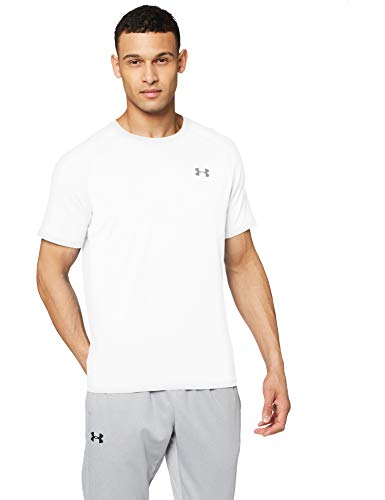Under Armour Herren Ua Tech 2.0 Short Sleeve Tee atmungsaktives Sportshirt T-Shirt, Weiß, Small