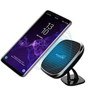 Nillkin 10W Fast Wireless Car Charger,[Rotatable] Wireless Charging Pad & Stronger Magnetic Car Mount Holder for iPhone 11/11 Pro/11 Pro Max/Xs/Xs Max/XR/X/8 Plus,Galaxy S10/Note 10/S9 Plus (Model C)