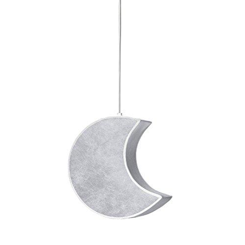 Alondra L534-2070 - Lámpara de techo infantil, forma de luna, color blanco