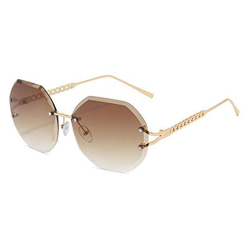 Candy Vintage Gafas De Sol Espejo Mujeres Chica Moda Metal Gafas De Sol Uv400 Mujer Adecuado para Las Compras De Viajes Al Aire Libre Y Tomar El Sol, Etc.- Marrón